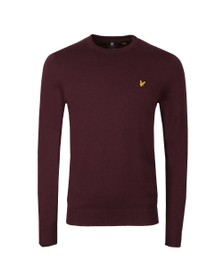 Lyle and Scott Mens Red Crew Neck Jumper
