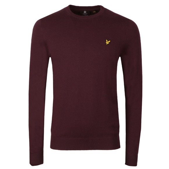 Lyle and Scott Mens Red Crew Neck Jumper main image
