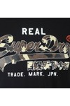 Superdry Mens Black Vintage Logo Camo Mid Tee