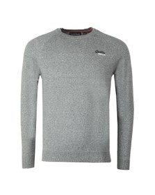 Superdry Mens Grey Cotton Crew Jumper