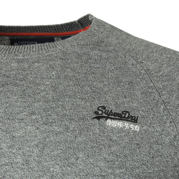 Superdry Mens Grey Cotton Crew Jumper main image