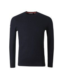 Superdry Mens Blue Academy Crew Jumper