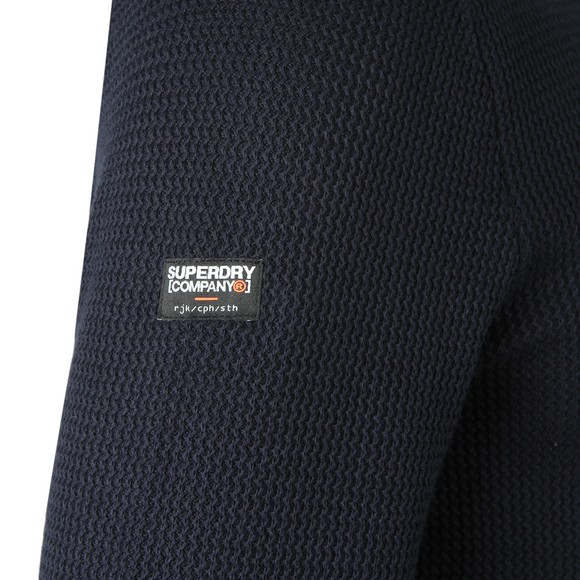 Superdry Mens Blue Academy Crew Jumper main image