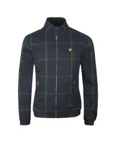 Lyle and Scott Mens Blue Tartan Harrington