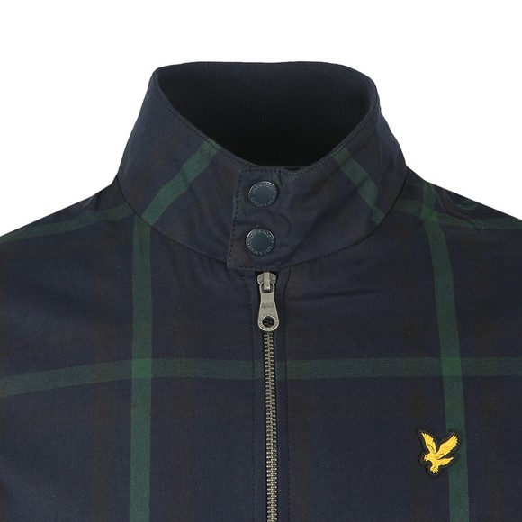 Lyle and Scott Mens Blue Tartan Harrington main image
