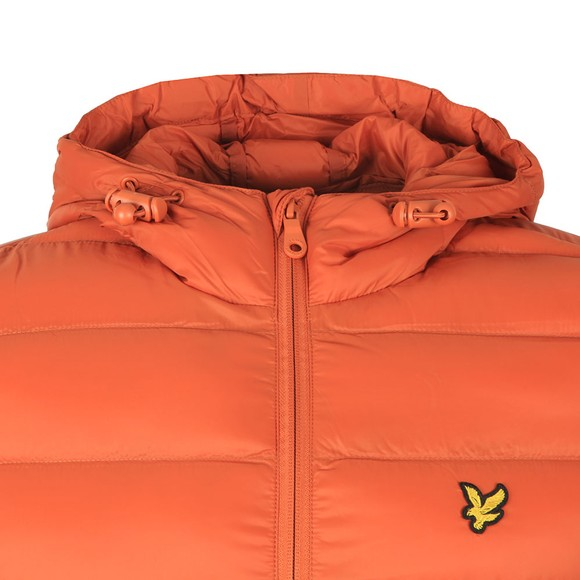 Lyle and Scott Mens Brown Lightweight Puffer Jacket main image