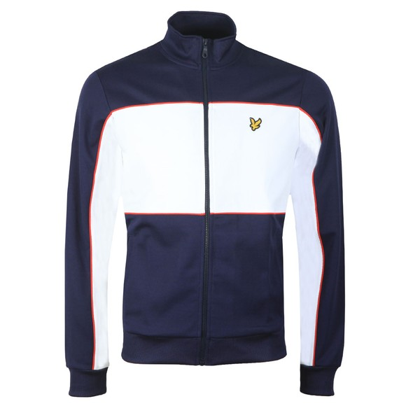 Lyle and Scott Mens Blue Colourblock Track Jacket