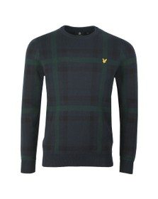 Lyle and Scott Mens Blue Tartan Jumper