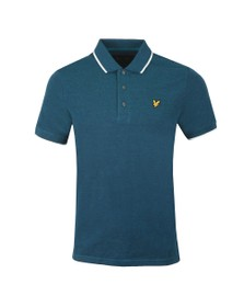 Lyle and Scott Mens Green Oxford Tipped Polo