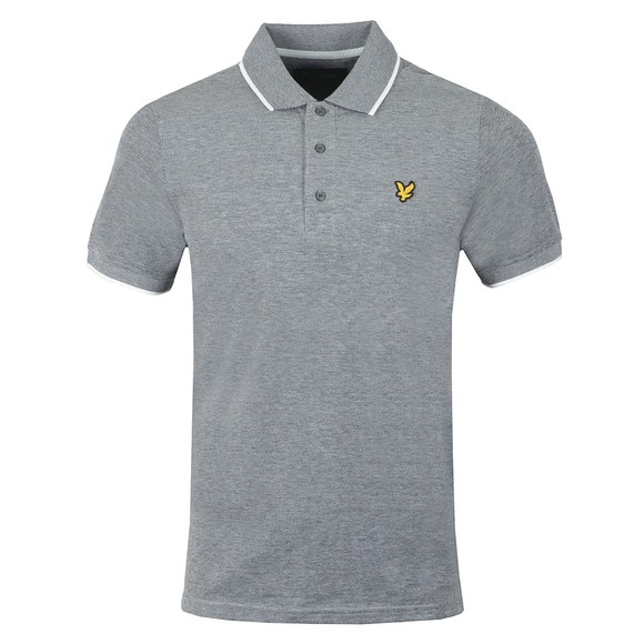 Lyle and Scott Mens Grey Oxford Tipped Polo main image