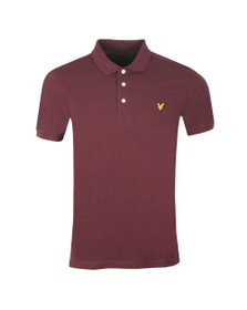 Lyle and Scott Mens Red Plain Polo