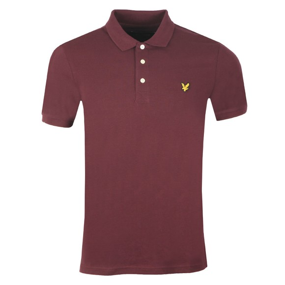Lyle and Scott Mens Red Plain Polo main image