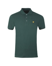 Lyle and Scott Mens Green Plain Polo