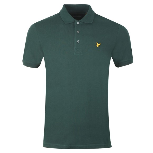 Lyle and Scott Mens Green Plain Polo main image