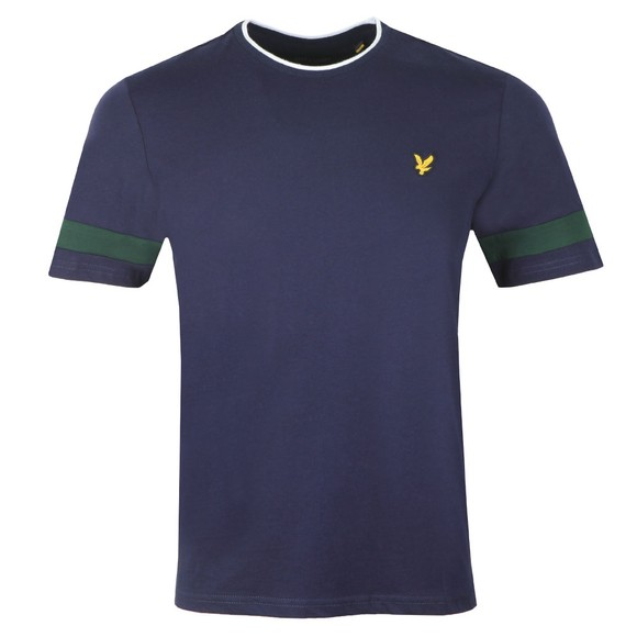 Lyle and Scott Mens Blue Tipped Tee main image