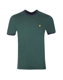 Lyle and Scott Mens Green Ringer Tee