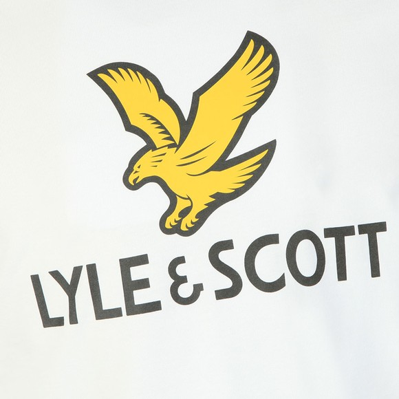 Lyle and Scott Mens White Logo Tee main image