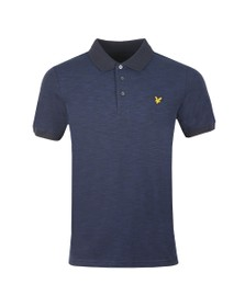 Lyle and Scott Mens Blue Space Dye Polo