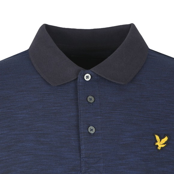 Lyle and Scott Mens Blue Space Dye Polo main image