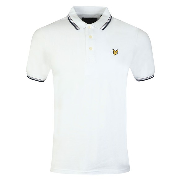 Lyle and Scott Mens Multicoloured Tipped Polo Shirt main image
