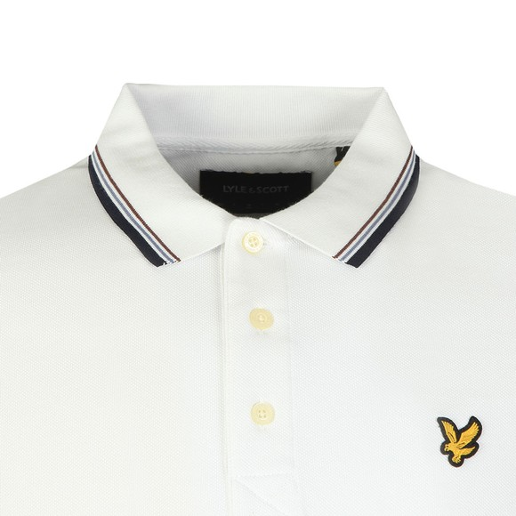 Lyle and Scott Mens White Tipped Polo Shirt main image