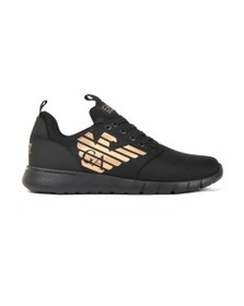 EA7 Emporio Armani Mens Black Mesh Runner Trainer