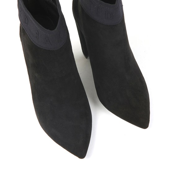 Ted Baker Womens Black Prenom Branded Suede Heeled Boot main image