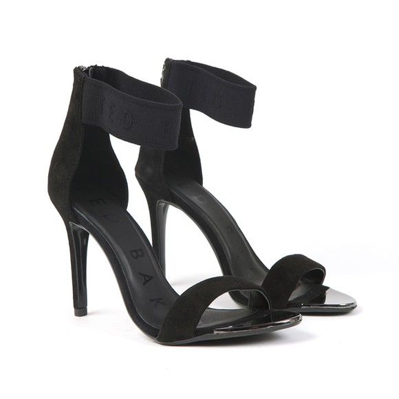 Ted Baker Womens Black Ainm Elastic Strap Suede Sandals main image