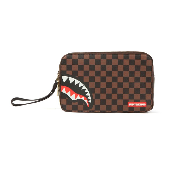 Sprayground Mens Brown Sharks In Paris Toiletry Bag