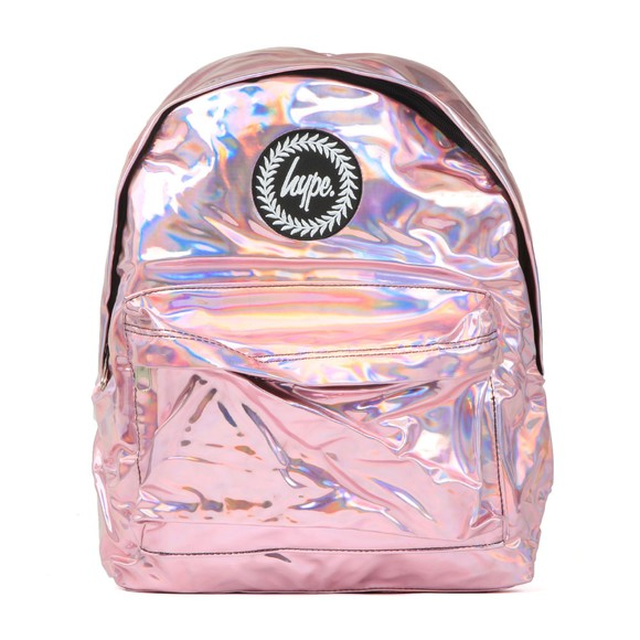 Hype Girls Pink Holographic Backpack