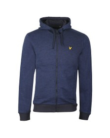 Lyle and Scott Mens Blue Space Dye Zip Through