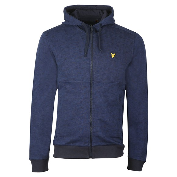 Lyle and Scott Mens Blue Space Dye Zip Through main image