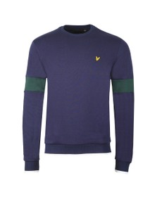 Lyle and Scott Mens Blue Tipped Crew Sweat