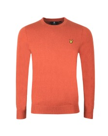 Lyle and Scott Mens Brown Crew Neck Jumper