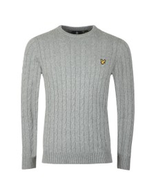 Lyle and Scott Mens Grey Cable Jumper