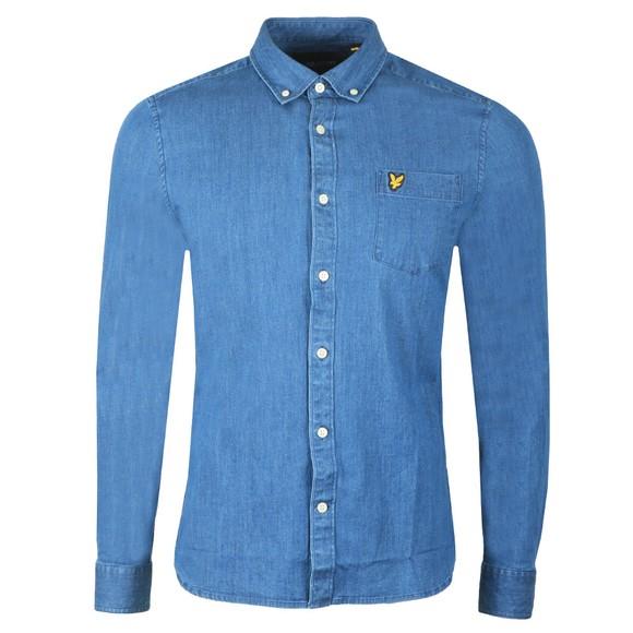 Lyle and Scott Mens Blue Denim Shirt main image