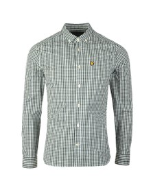 Lyle and Scott Mens Green Gingham Shirt