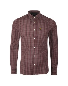 Lyle and Scott Mens Purple Gingham Shirt