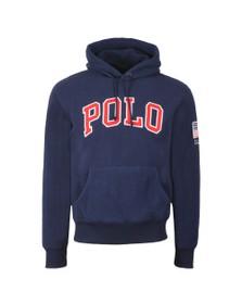 Polo Ralph Lauren Mens Blue Fleece Overhead Hoody