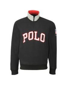 Polo Ralph Lauren Mens Black Half Zip Fleece Pullover