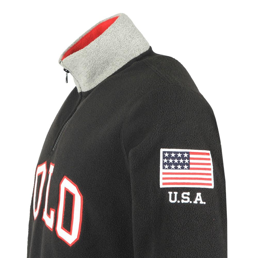 wie man kauft Promo-Codes große Vielfalt Modelle Mens Black Half Zip Fleece Pullover
