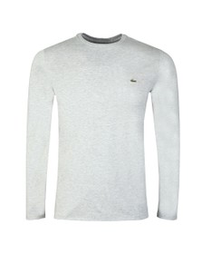 Lacoste Mens Grey TH6712 LS Tee