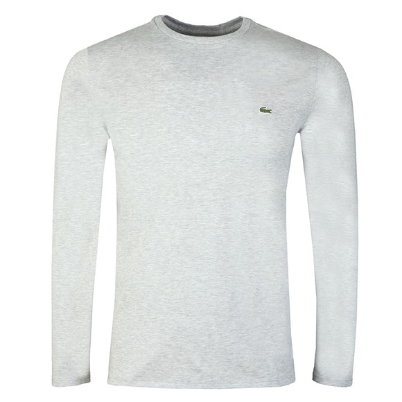 Lacoste Mens Grey TH6712 LS Tee main image