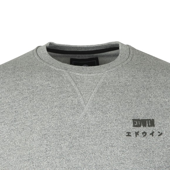 Edwin Mens Grey Base Crew Sweatshirt main image