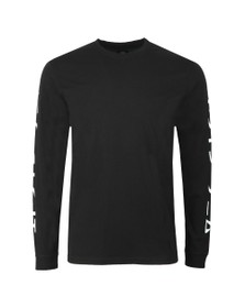 Edwin Mens Black Gang II Long Sleeve T Shirt