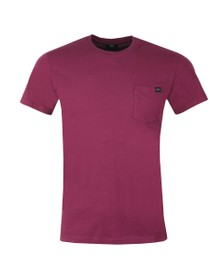Edwin Mens Purple Pocket Crew T-Shirt