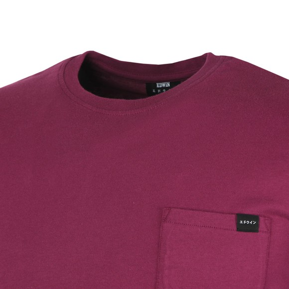 Edwin Mens Purple Pocket Crew T-Shirt main image