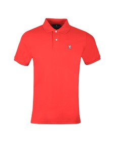 Psycho Bunny Mens Red Classic Polo Shirt