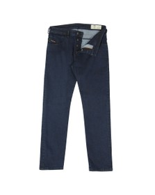 Diesel Mens Blue Bazer Tapered Jean