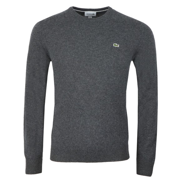 Lacoste Mens Grey AH0841 Wool Jumper main image